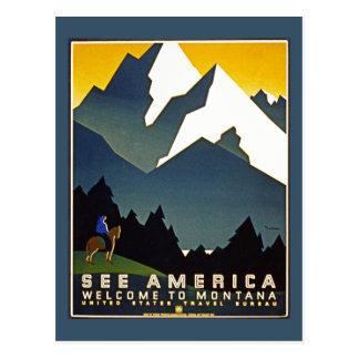 Veja América - boa vinda a Montana Cartão Postal