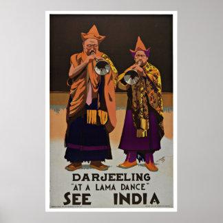 Veja o poster das viagens vintage de Darjeeling