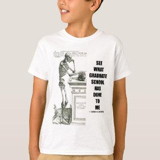 Veja o que a escola me fez (esqueleto) tshirt