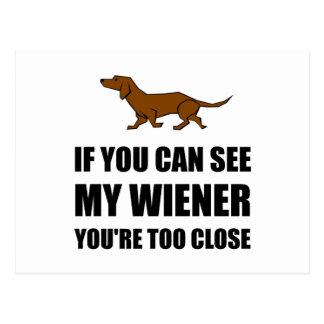 Veja o Wiener demasiado próximo Cartão Postal