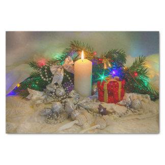 Vela do Natal Papel De Seda