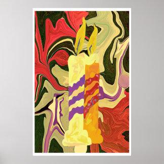 velas da arte abstracta poster