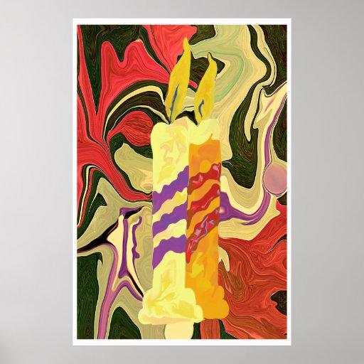 velas da arte abstracta impressão