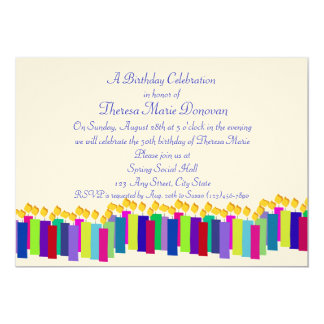 Velas do aniversário convites
