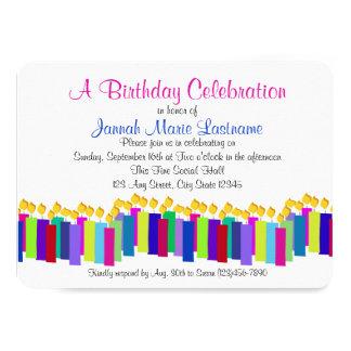Velas do aniversário convite 11.30 x 15.87cm