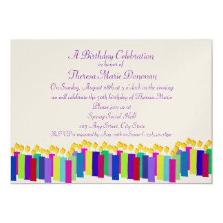 Velas do aniversário convite 12.7 x 17.78cm