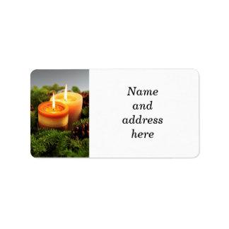 Etiquetas vela etiquetas de endere os retorno e frete - Etiquetas para velas ...