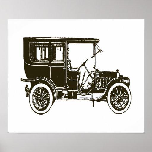 Velho Carro Marrom Impressão