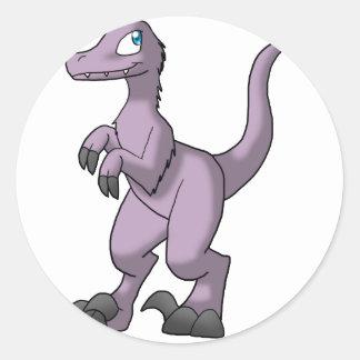 Velociraptor Pre-Feito - lavanda desvanecida com Adesivo