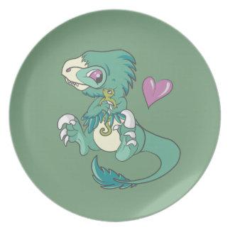Velociraptor vicioso! pratos