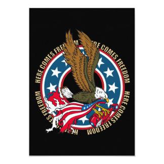 Vem aqui a águia americana do americano da convite 12.7 x 17.78cm