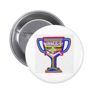 VENCEDOR: A mão crafted o troféu: Incentive a Boton