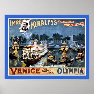 Veneza em viagens vintage da Olympia Posters