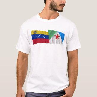 Venezuela e bandeiras de ondulação de Mérida Tshirts