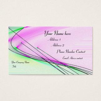 Vento abstrato cartão de visitas