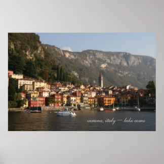 verana, como do lago do ~ de Italia Poster