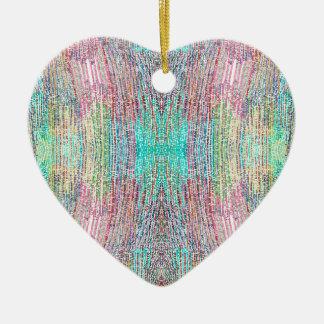 Verão indiano ornamento de cerâmica coração
