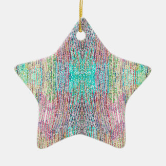 Verão indiano ornamento de cerâmica estrela