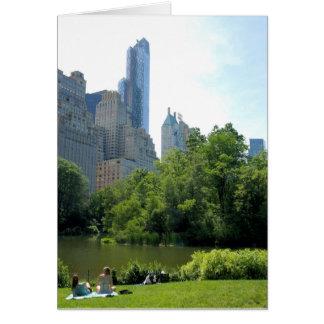 Verão na cidade - Central Park NYC - vazio para Cartão Comemorativo