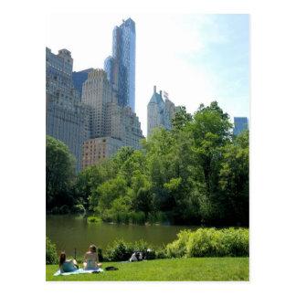 Verão no cartão da Nova Iorque do Central Park… Cartão Postal
