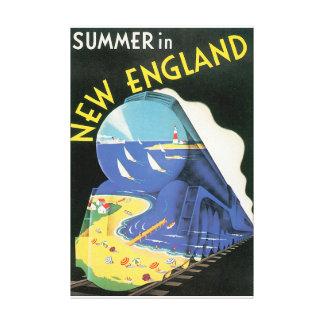 Verão no poster das viagens vintage de Nova