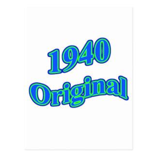 Verde 1940 azul original cartão postal