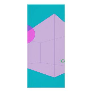 Verde azul da criação 10.16 x 22.86cm panfleto