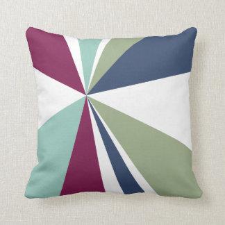 Verde azul roxo da arte geométrica do triângulo da travesseiros de decoração