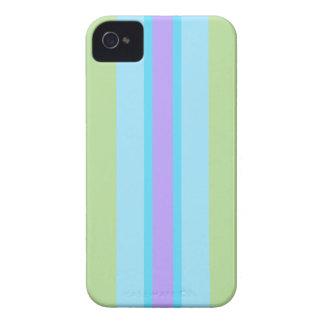 Verde, azul, roxo listrado capa para iPhone 4 Case-Mate