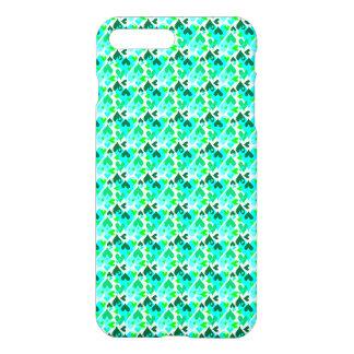 Verde bonito do caso do teste padrão dos corações capa iPhone 8 plus/ 7 plus