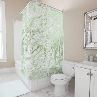 Verde branco da hortelã de Carrara do abstrato de Cortina Para Box