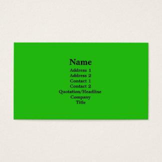 verde-claro cartão de visitas