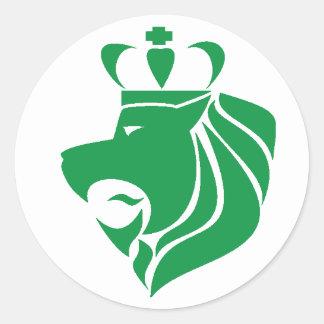 Verde coroado reggae do leão de Rasta Adesivo