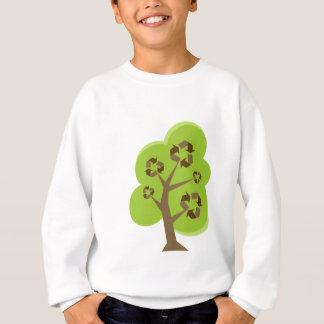 Verde da árvore do reciclar t-shirt