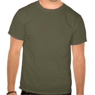 Verde da camisa do tanque de Sherman com estrela T-shirt