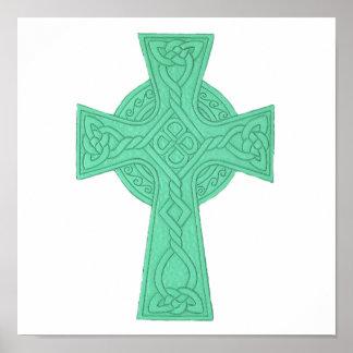 Verde da cruz celta 3 posteres