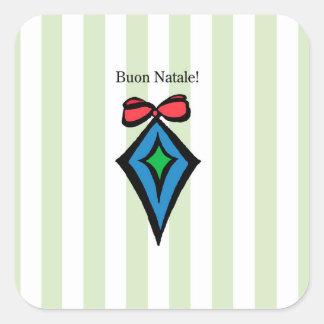 Verde da etiqueta do ornamento do diamante de Buon