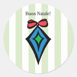 Verde da etiqueta do ornamento do diamante de Buon Adesivo