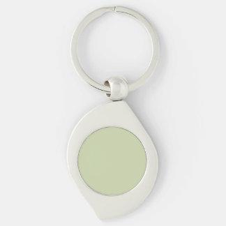 Verde da flor de lis para o casamento francês do chaveiro espiral cor prata