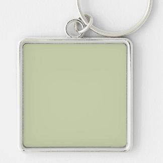 Verde da flor de lis para o casamento francês do chaveiro quadrado na cor prata