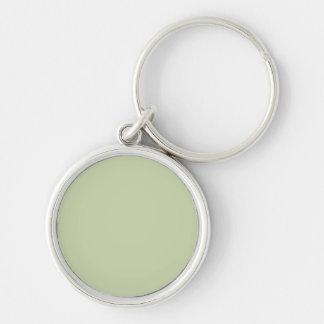 Verde da flor de lis para o casamento francês do chaveiro redondo na cor prata