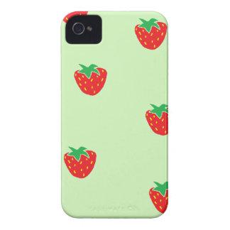 Verde da hortelã das morangos capa de iPhone 4 Case-Mate