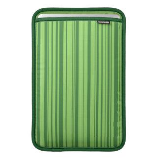 Verde das listras verticais da pele da melancia bolsas de MacBook
