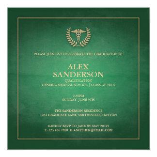 Verde do anúncio   da graduação da Faculdade de Me Convite Personalizados