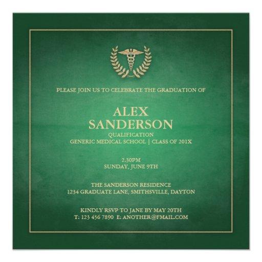 Verde do anúncio | da graduação da Faculdade de Me Convite Personalizados