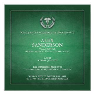 Verde do anúncio   da graduação da Faculdade de Me Convites Personalizado