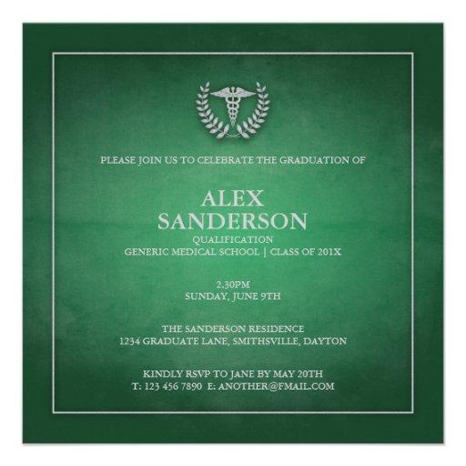 Verde do anúncio | da graduação da Faculdade de Me Convites Personalizado