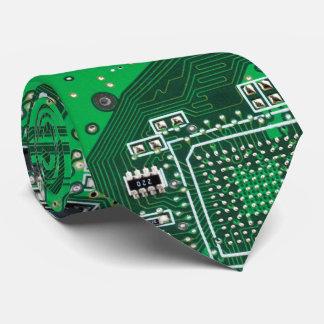 Verde do conselho de circuito do geek do gravata