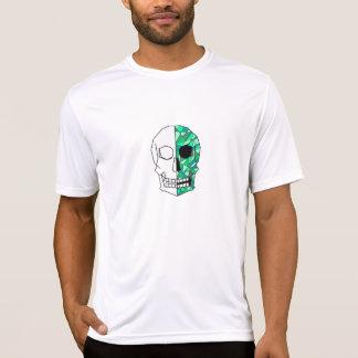 VERDE do crânio Camiseta