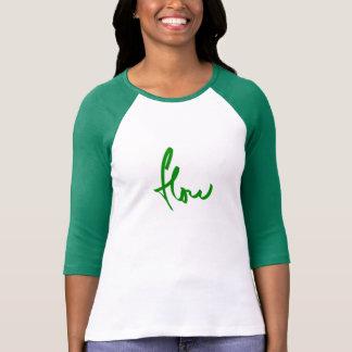 verde do fluxo tshirts
